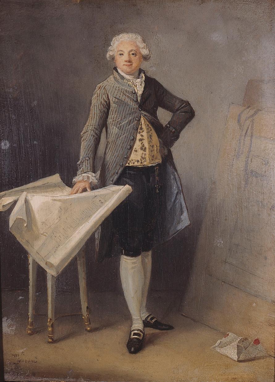 Маргарита Жерар. Портрет архитектора Клода-Никола Леду. 1787