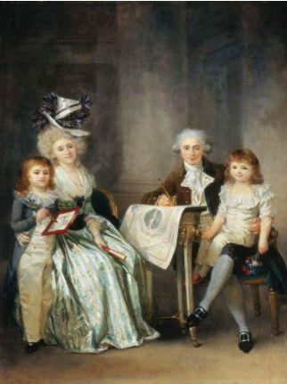 Маргарита Жерар. Портрет семьи архитектора. 1787