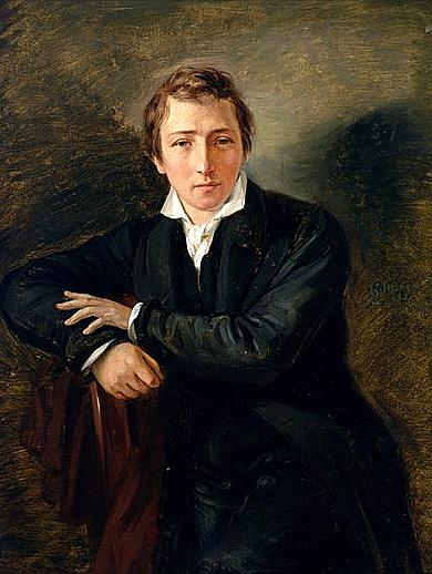 Мориц Даниэль Оппенгейм. Портрет поэта Генриха Гейне