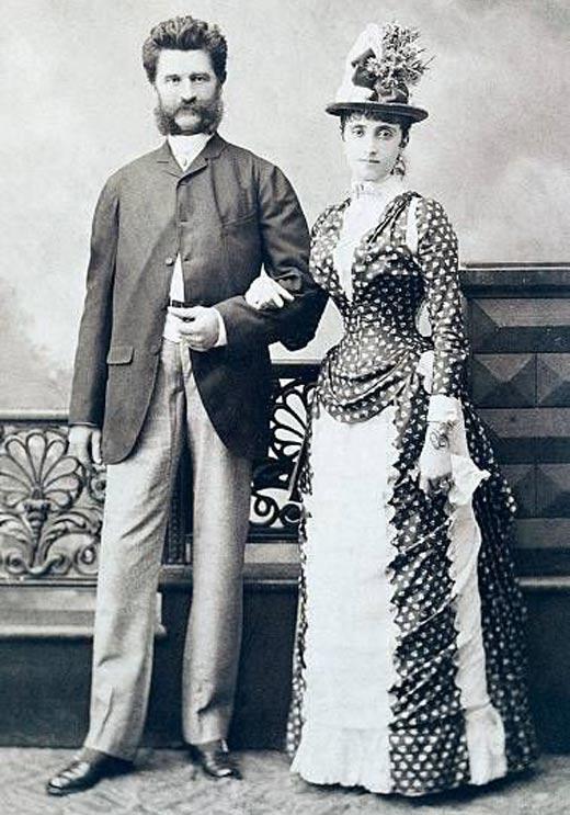Иоганн Штраус-сын и его третья жена Адель Дойч