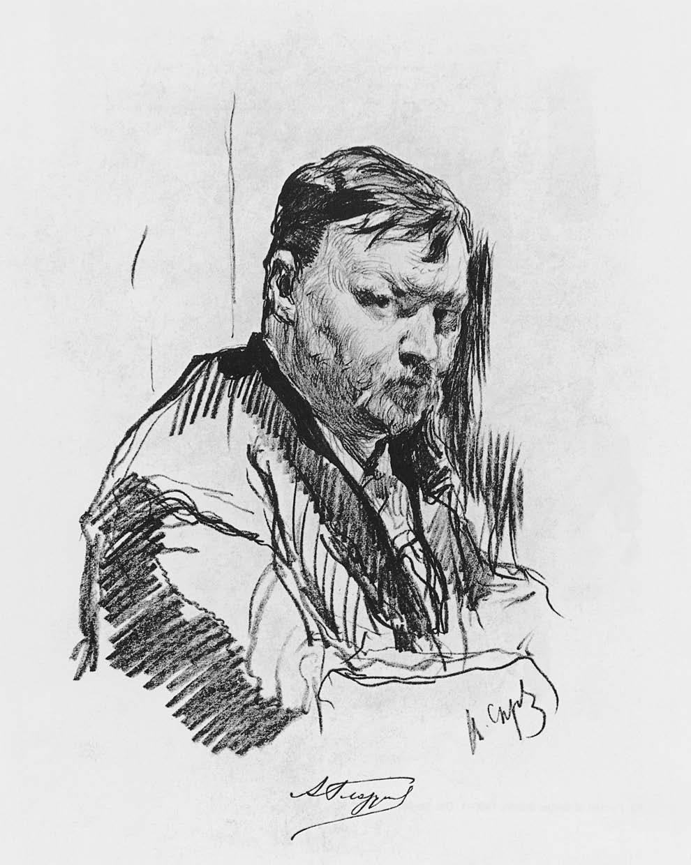 Валентин Серов. Портрет композитора Александра Глазунова. 1899