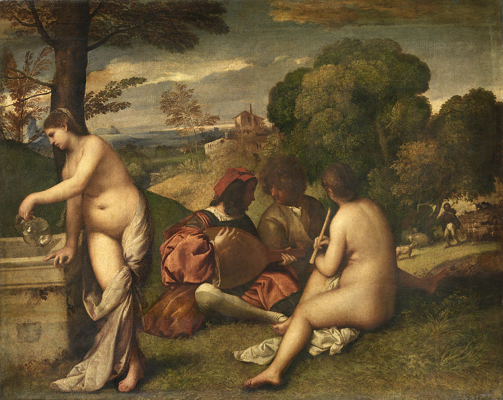 Тициан(?) Пасторальный концерт. Ок.1511
