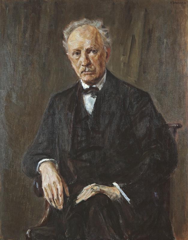 Макс Либерман. Портрет композитора Рихарда Штрауса. 1918