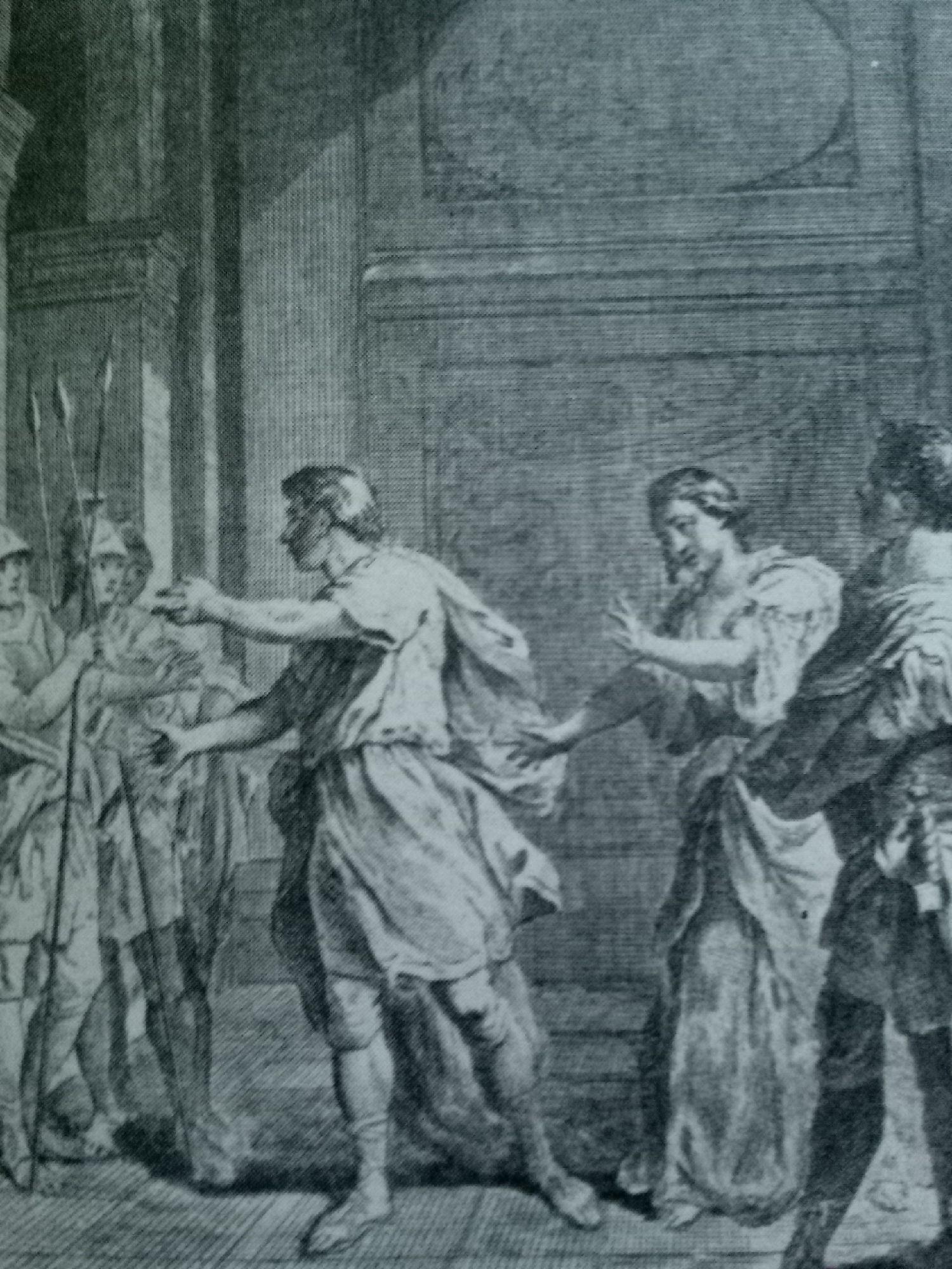 """Иллюстрация к трагедии Пьера Корнеля """"Полиевкт"""". 1794"""