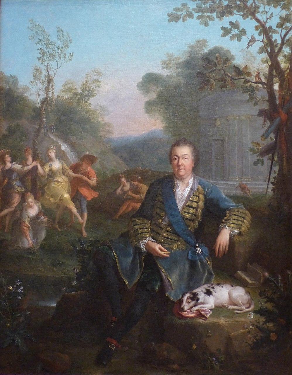Жан Рау. Филипп де Бурбон-Вандом, великий приор. 1721