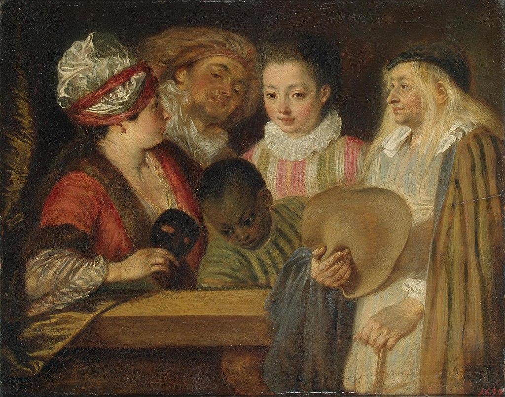 Антуан Ватто. Актеры французской комедии. 1715-18 (?)