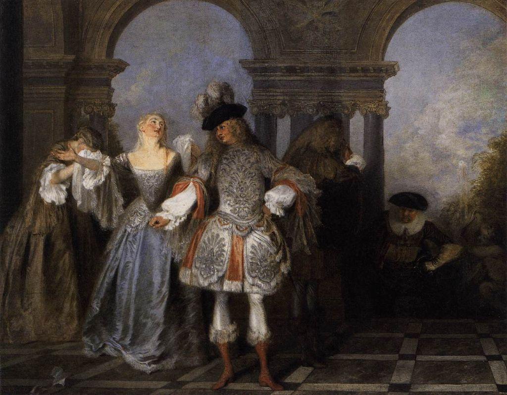 Антуан Ватто. Актеры Комеди Франсез. Ок.1712