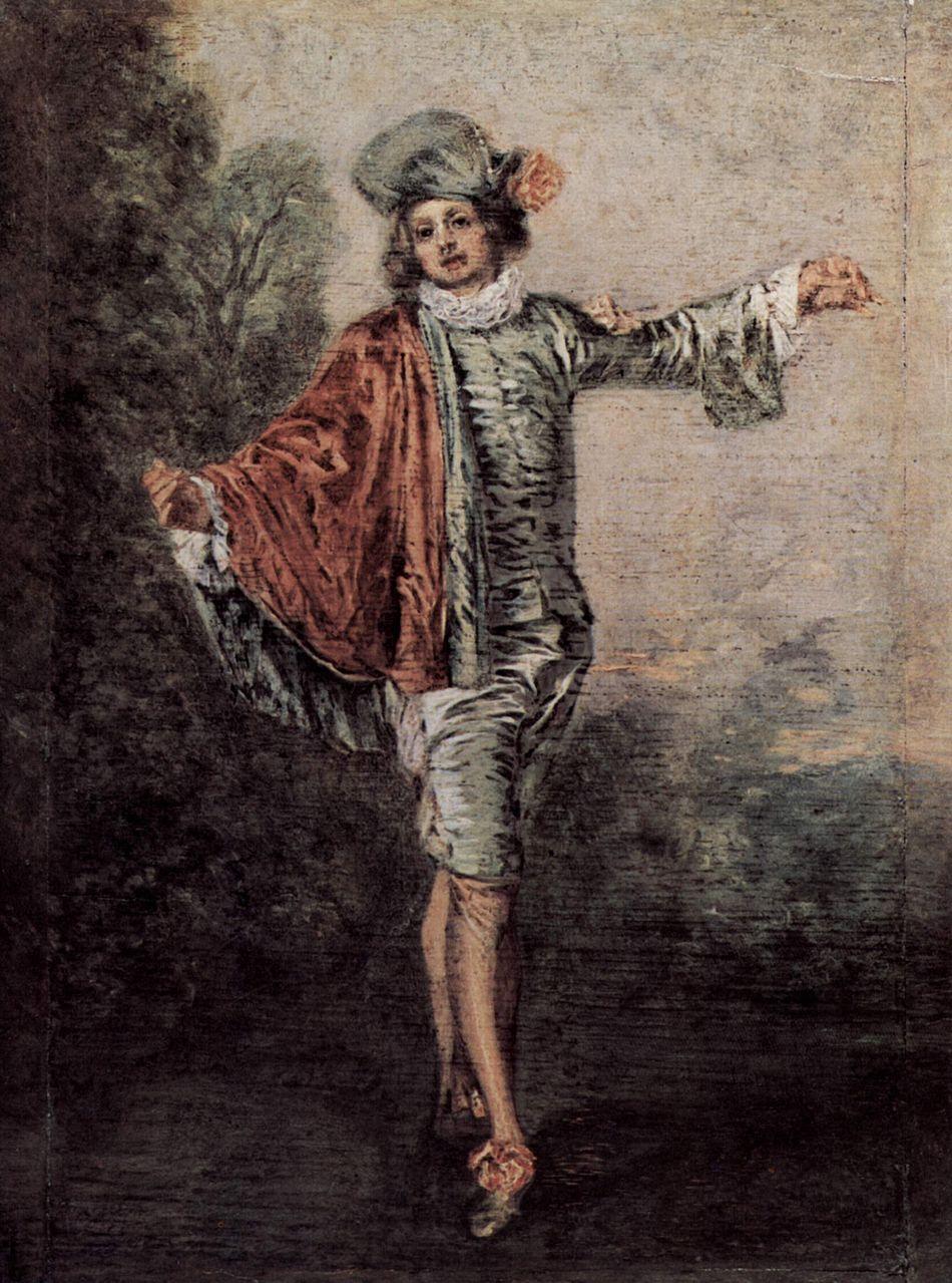 Антуан Ватто. Равнодушный. Ок.1717