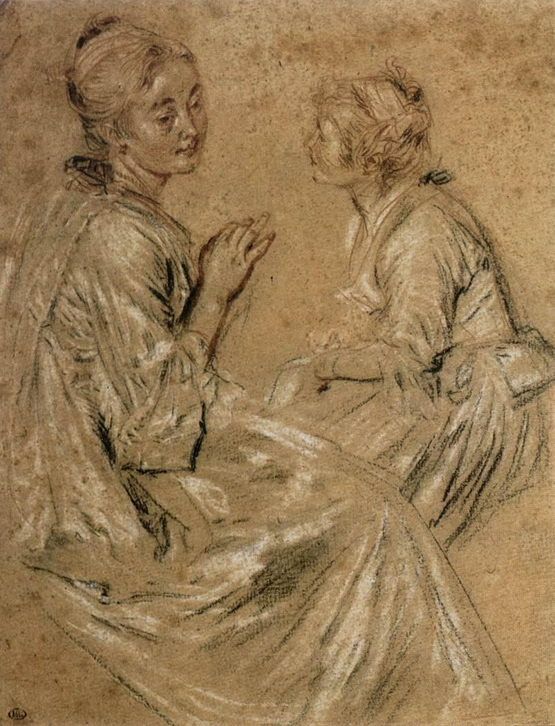 Антуан Ватто. Две девушки. 1716-17
