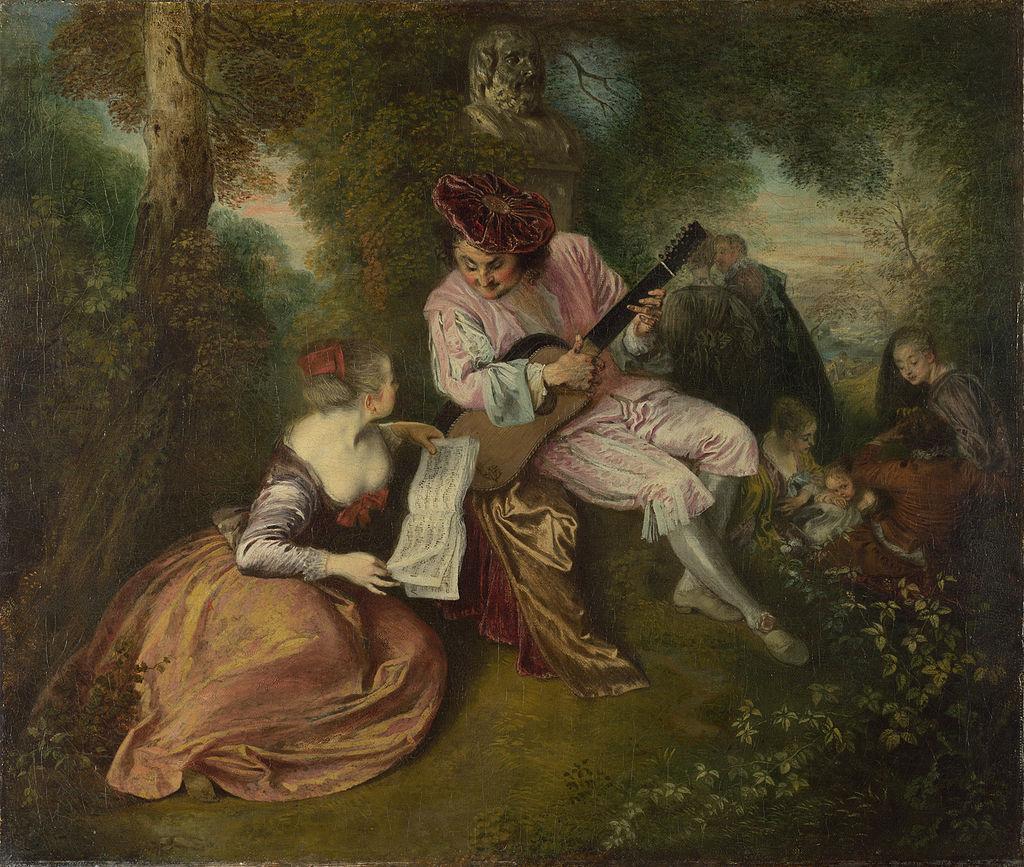 Антуан Ватто. Любовная песня. 1717