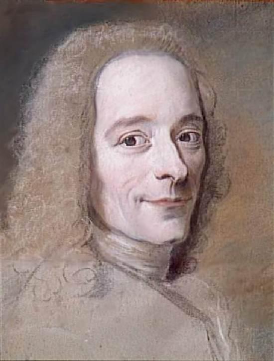 Морис Кантен де ла Тур. Портрет Вольтера. 1735