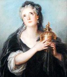 Шарль Антуан Куапель. Портрет Адриенны Лекуврер в роли Корнелии Метеллы. 1721—1724