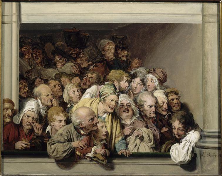 Луи-Леопольд Буальи. Ложа в день бесплатного спектакля. 1830