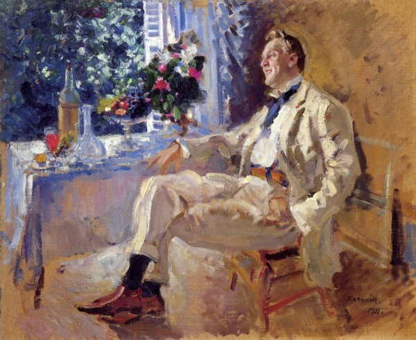 Константин Коровин. Портрет артиста Федора Шаляпина. 1911