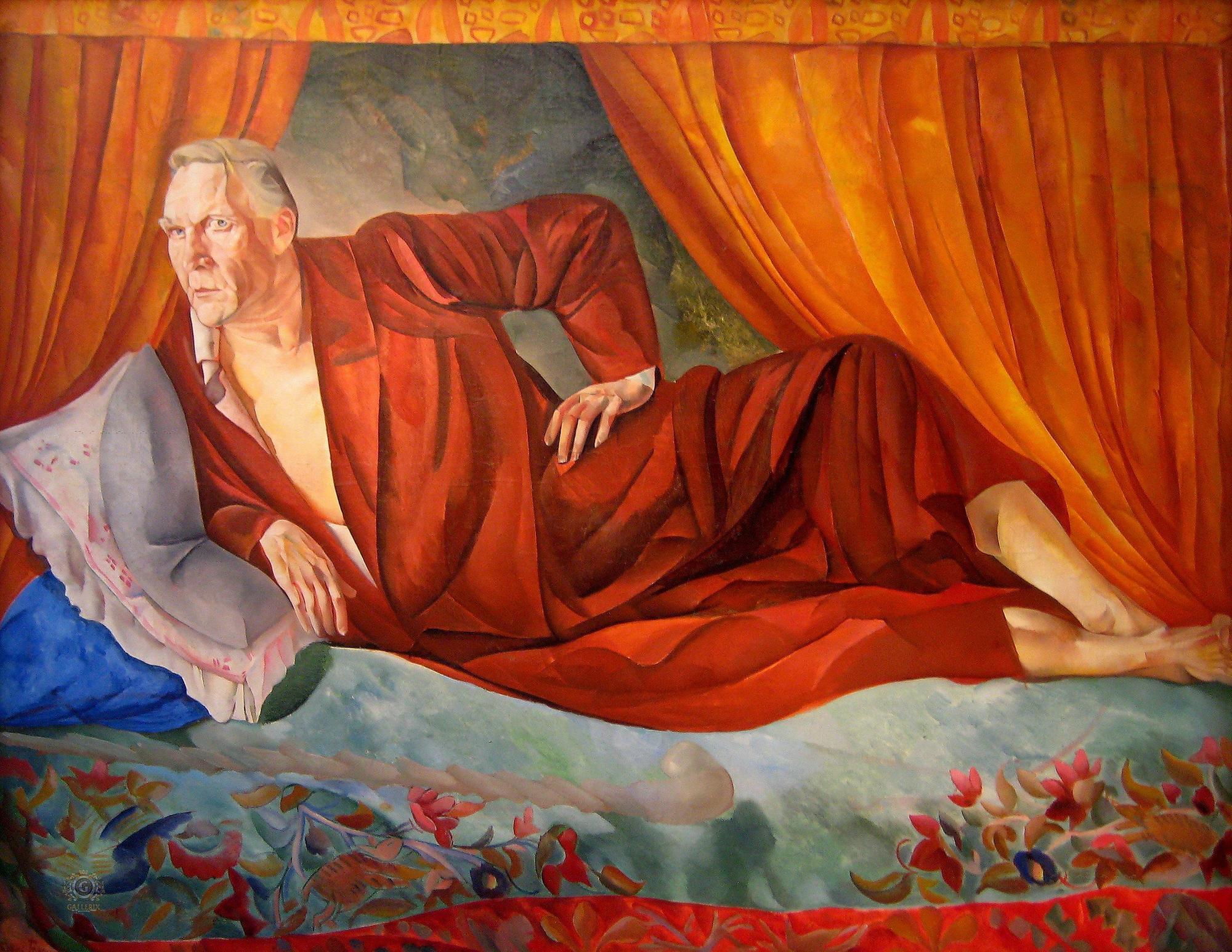 Борис Григорьев. Портрет Федора Шаляпина. 1918