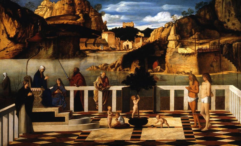 Джованни Беллини. Озерная Мадонна. 1490-1500