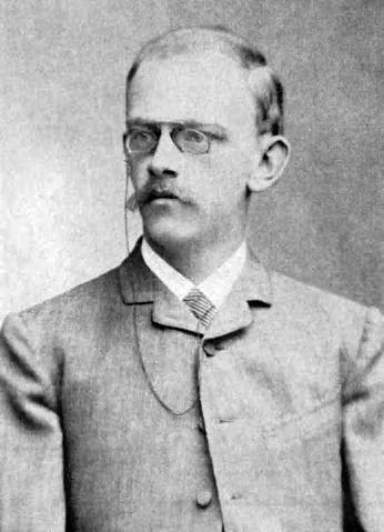 Давид Гилберт в 1886 году в Кенигсберге