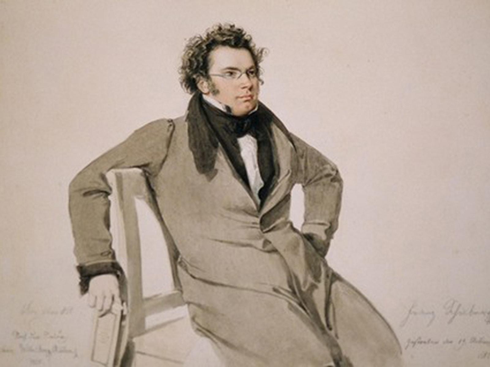 Вильгельм Август Ридер. Портрет Франца Шуберта. 1825