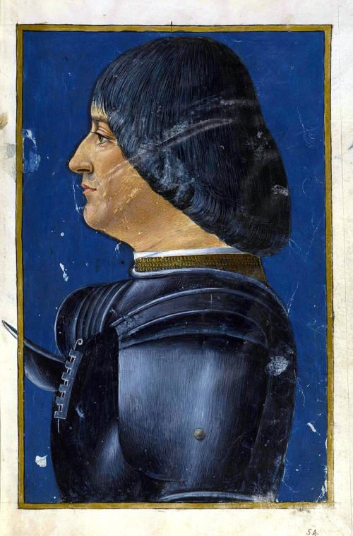 Джованни Амброджо де Предис. Портрет герцога Лодовико Сфорца, прозванного Моро
