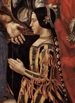 Беатриче д`Эсте. Фрагмент Алтаря Сфорца. 1494-95
