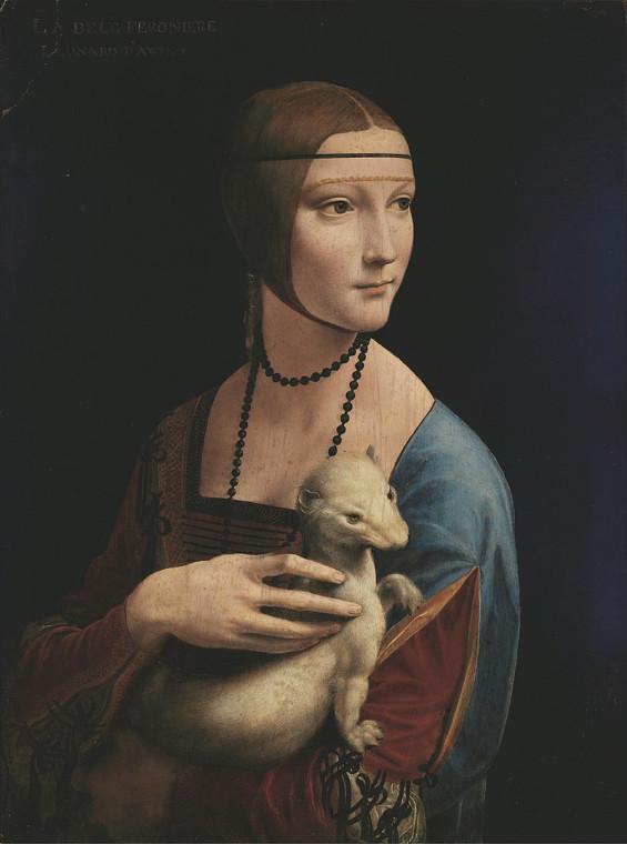 Леонардо да Винчи. Дама с горностаем (Портрет Чечилии Галлерани). 1489-90
