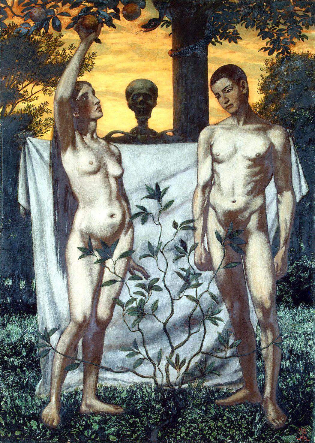 Ганс Тома. Адам и Ева. 1897