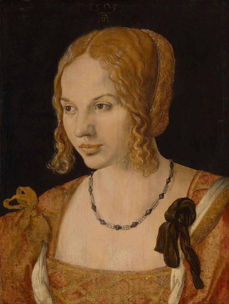 Альбрехт Дюрер. Портрет венецианки. 1505