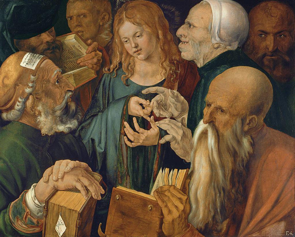 Альбрехт Дюрер. Христос среди учителей. Ок.1506
