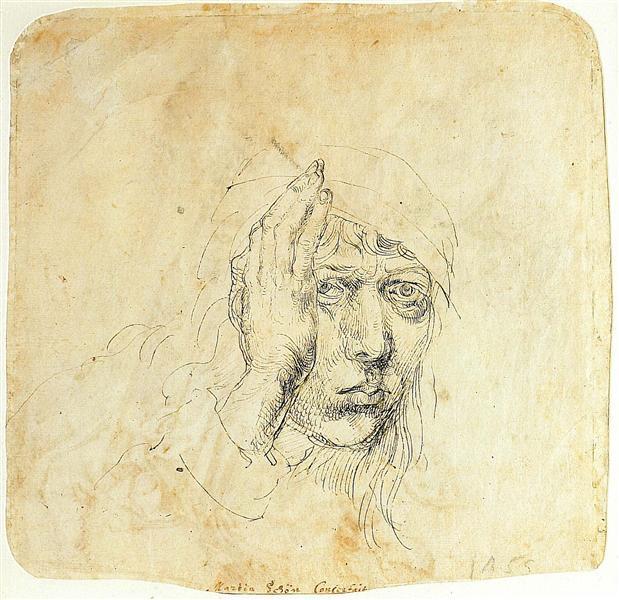 Альбрехт Дюрер. Автопортрет с повязкой. 1491-92