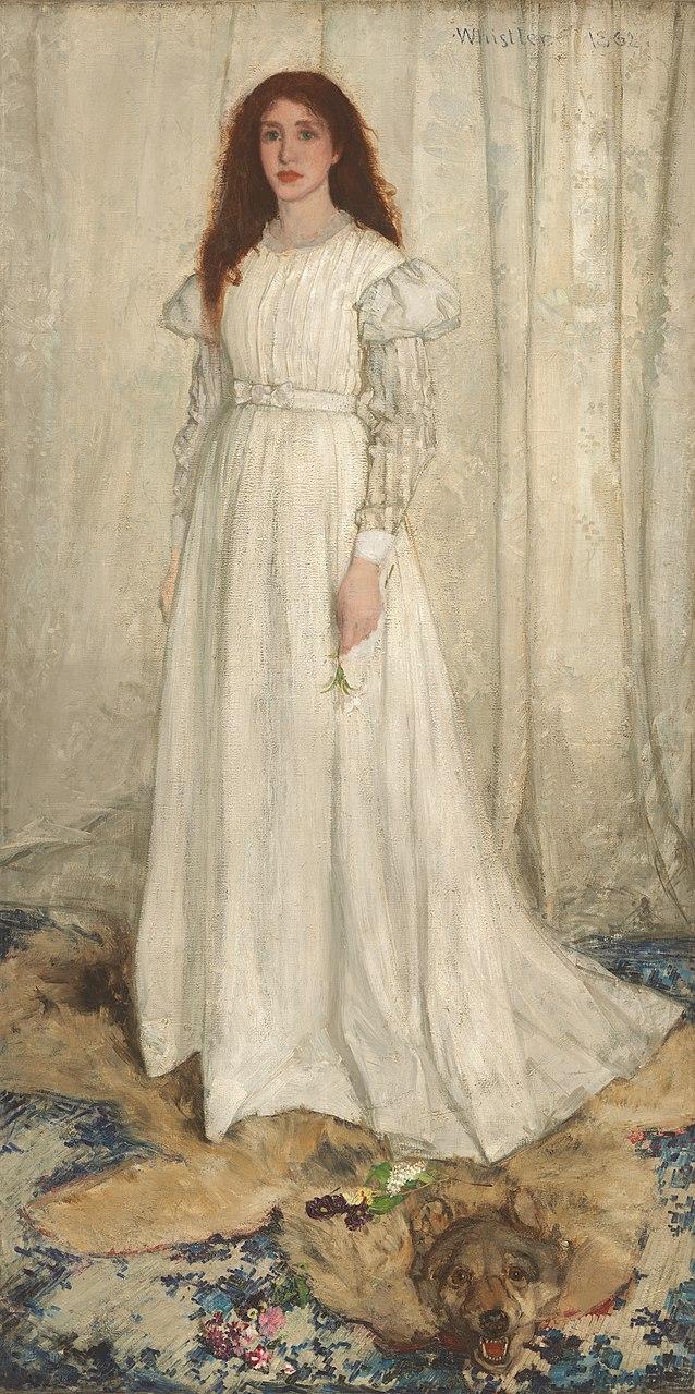 Джеймс Уистлер. Симфония в белом № 1: девушка в белом. 1862