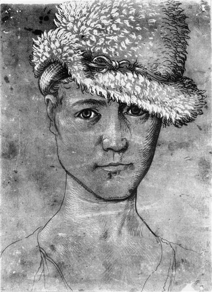 Ганс Бальдунг Грин. Автопортрет . Ок.1503