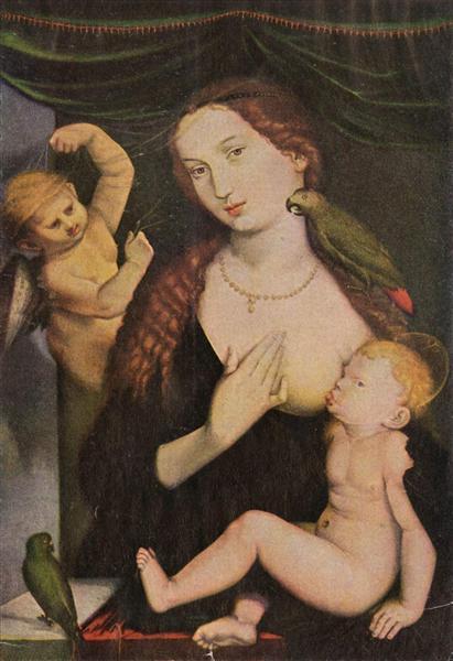 Ганс Бальдунг Грин. Мадонна с попугаем. 1533