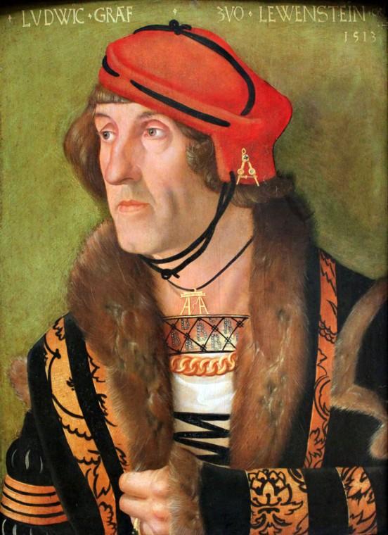 Ганс Бальдунг Грин. Портрет графа Людвига цу Левенштейн. 1513
