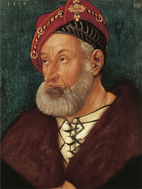 Ганс Бальдунг Грин. Портрет маркграфа Кристофа Баденского. 1515