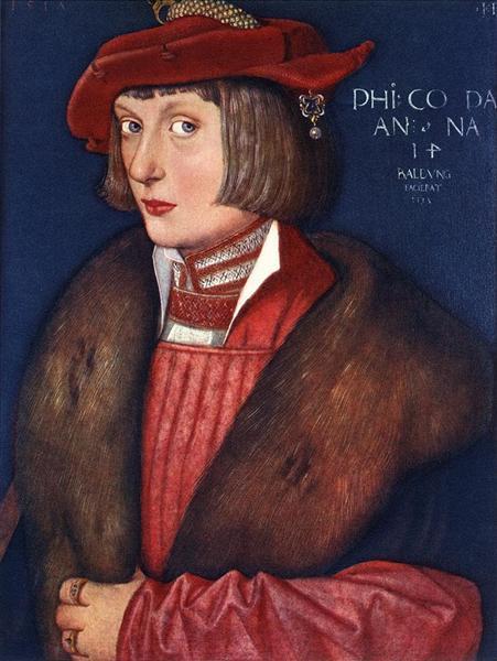 Ганс Бальдунг Грин. Портрет пфальцграфа Филиппа Воинствующего. 1515 (1517?)