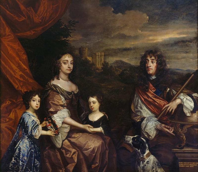 Джеймс Стюарт, Энн Хайд и их дочери леди Мэри и леди Анна