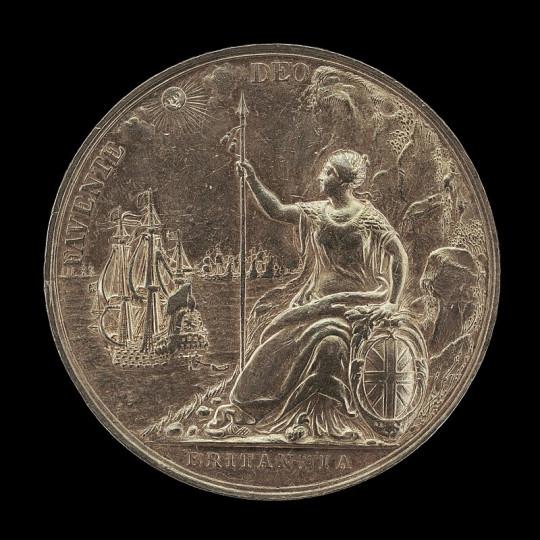 Джон Роттьерс. Реверс памятной медали  в память об окончании второй англо-голландской войны. 1667
