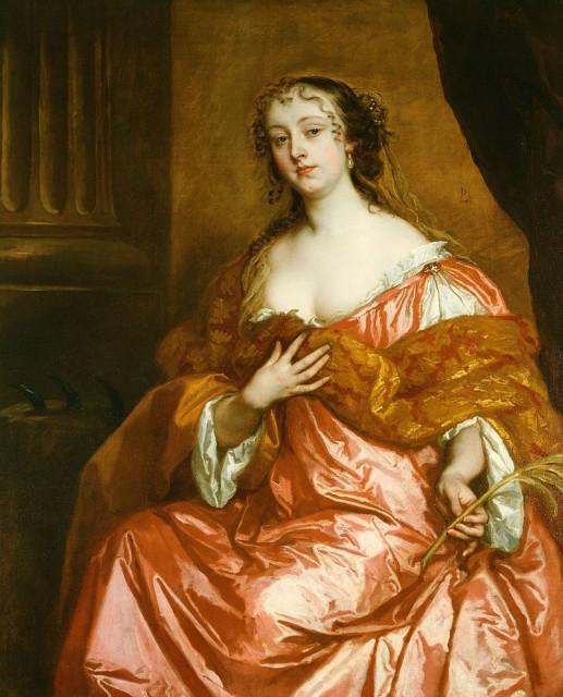 Питер Лели. Портрет Элизабет Гамильтон, графиня де Грамон. ок. 1663