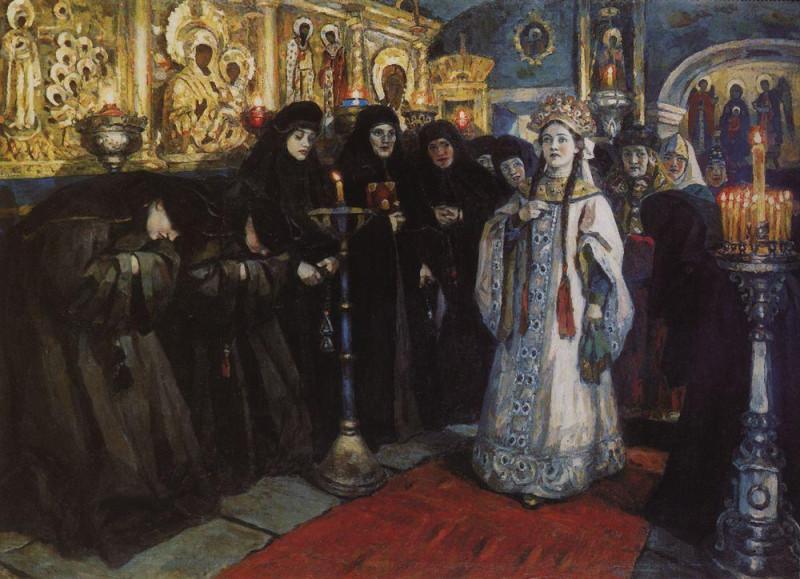 Василий Суриков. Посещение царевной женского монастыря. 191ё2