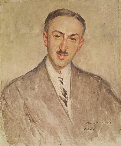 Жак Эмиль Бланш. Портрет Андре Моруа. 1924