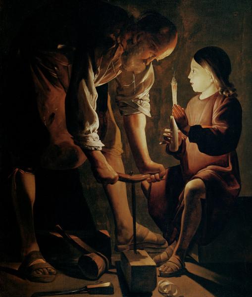 Жорж де ля Тур. Иосиф-плотник. Между 1638 и 1645