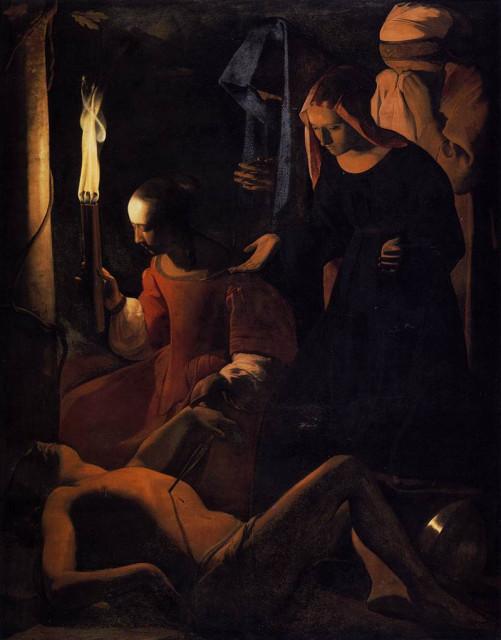 Жорж де ля Тур. Св.Ирина и св.Себастьян. 1648 (?)