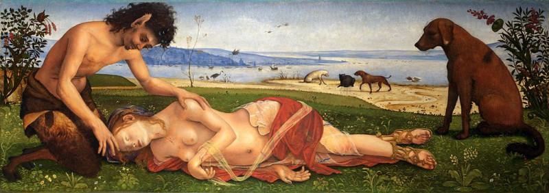 Пьетро ди Козимо. Смерть Прокриды. ок.1500