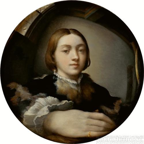 Пармиджанино. Автопортрет в выпуклом зеркале. 1524