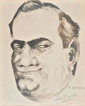 Энрико Карузо. Автопортрет. 1914