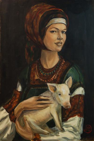 дама с горностаем свином