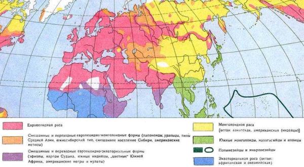 карта рас