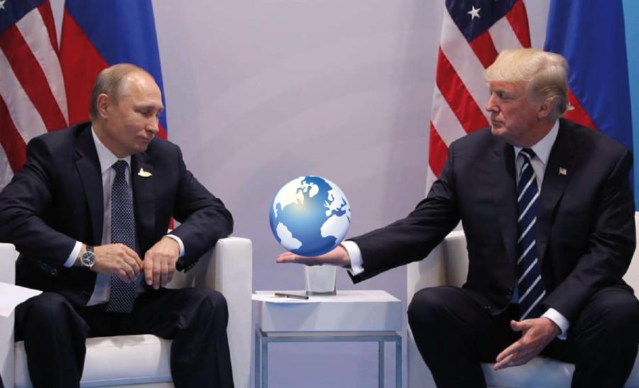 Трамп отдаёт Путину Землю