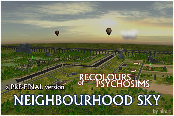 A PRE-FINAL version of RECOLOURS or PSYCHOSIMS NEIGHBOURHOOD SKY by nimi4