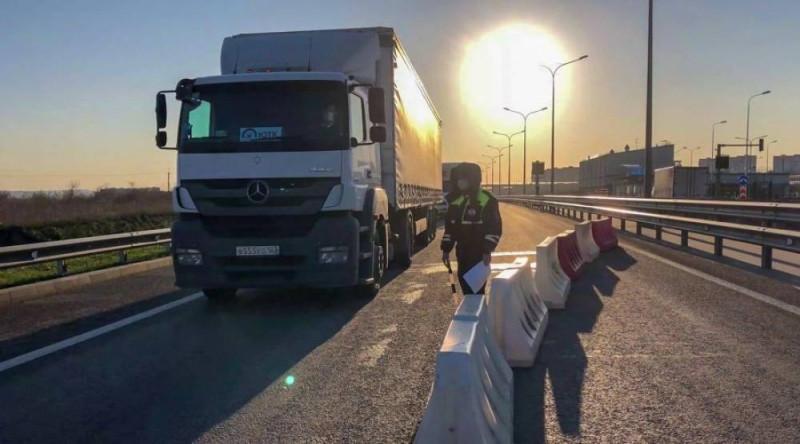 контроль машин на Крымском мосту